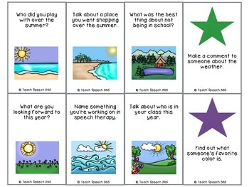 Back To School Social Language Game