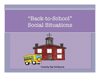 Back To School Social Situations