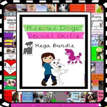 Behavior Management Social Skills 20+ Bundle Rescue Dogs' Series PPT