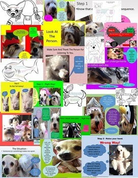 Behavior Management Social Skills 23+ Bundle Rescue Dogs' Series PPT
