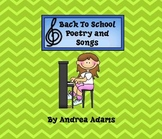Back To School Songs and Poetry