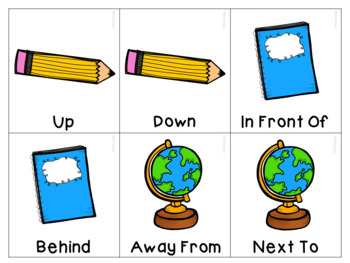 Back To School Spatial Vocabulary