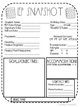 Helpful Special Education Forms Pack