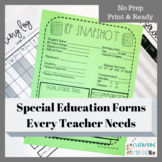Special Education Forms- Snapshots