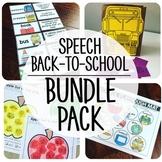 Back-To-School Speech {BUNDLE PACK}