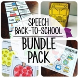 Back-To-School Speech {BUNDLE PACK}