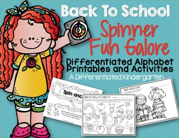 Back To School Spinner Fun Galore-Letters - Printables - Distance Learning