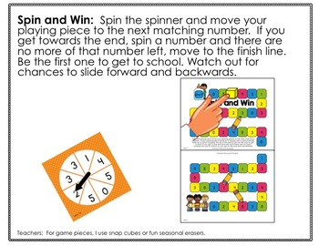 Back To School Spinner Math Fun Galore Printables-Differentiated and Aligned
