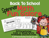 Back To School Spinner Math Fun Galore Printables-Differen