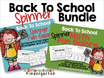 Back To School Spinner Printable Bundle for Math/Alphabet-