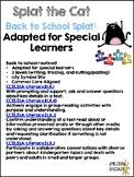 Back To School Splat The Cat: Adapted for Special Learners