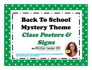 Back To School Mystery/Investigation Theme Class Posters