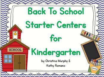 Back To School Starter Centers for Kindergarten
