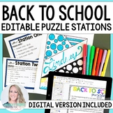 Back To School Stations - Editable About Me Activity