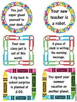 Back To School: Story Starters {Common Core Writing Prompts}