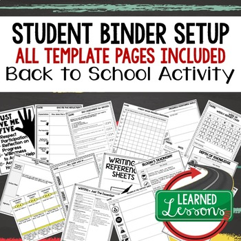 #schoolsavings Back To School Binder, Folder, Notebook Set-Up & Monitoring Pages