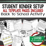 Back To School Binder, Folder, Notebook Set-Up
