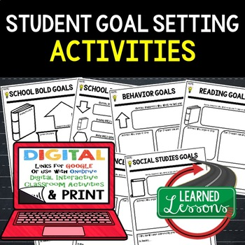 Back To School Student Bold Goals Paper and Google Drive Link