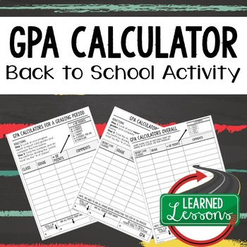 Back To School Student GPA Calculator