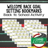 Back To School Student Goal Setting Bookmarks for every subject