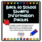 Back To School Student Information