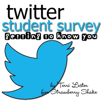 Back To School Student Twitter Style Survey - Tweeting to Know You
