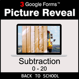 Back To School: Subtraction 0-20 - Google Forms Math Game