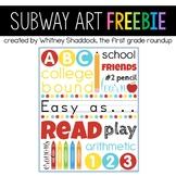 Back To School Subway Art