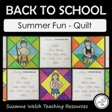 Back To School – Summer Fun – Quilt