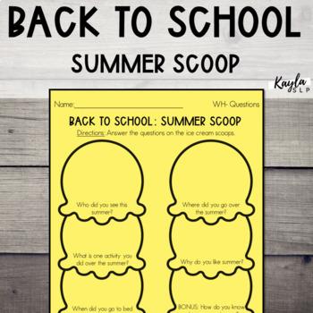 Back To School: Summer Scoop
