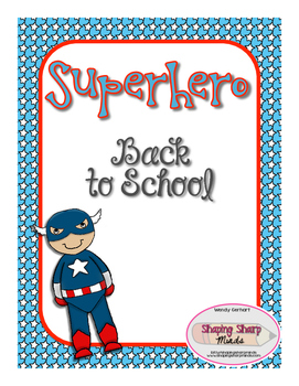 Back To School Superhero Activity Pack