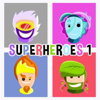 Back To School - Superheroes Avatars 1 Clipart