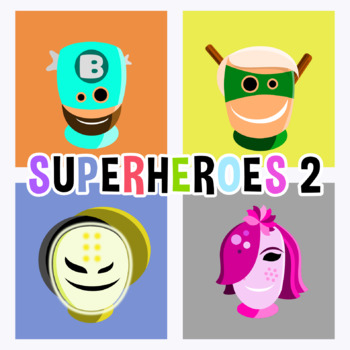 Back To School - Superheroes Avatars 2 Clipart