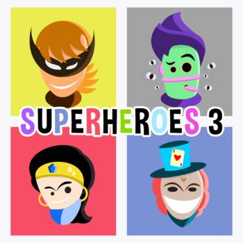 Back To School - Superheroes Avatars 3 Clipart