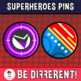 Back To School - Superheroes Pins