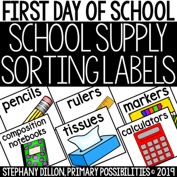 Back To School Supply Labels