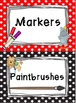 Back To School Supply Labels: Circus Theme