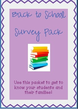 Back To School Survey Pack
