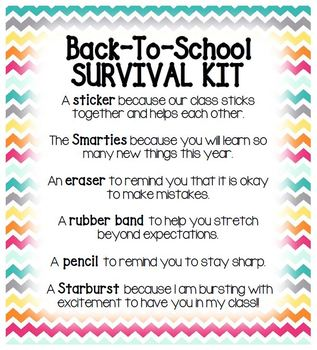 Back To School Survival Kit