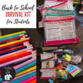Back To School Survival Kit: CUSTOMIZABLE & EDITABLE