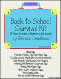 Back To School Survival Kit by Johnson Creations