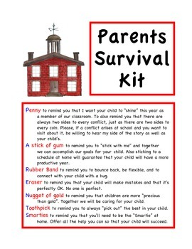 Back To School Survival Kits