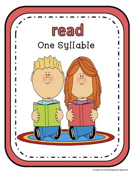 Back To School Syllable Sort Center Games