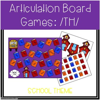 Back To School /TH/ Articulation Board Games