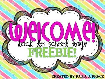 Back To School Tags FREEBIE!