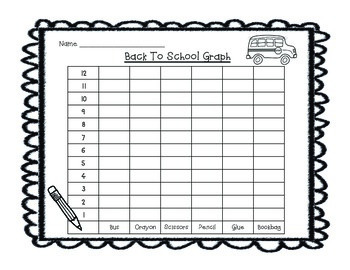 Back To School Tally Mark & Graphing Activity