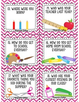 Back To School Task Card Scoot!