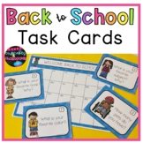Back To School Task Cards  Back to School Activity