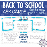 Back To School Task Cards Beginning of the Year Activity