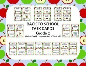 Back To School Task Cards - Grade 2 Review